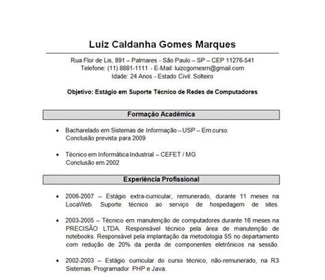 Modelo Q Curriculum Vitae Modelo De Curriculum Atual Images