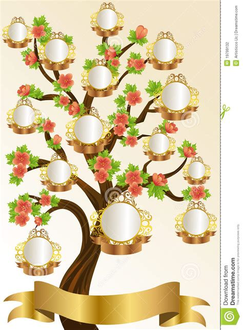family tree template stock photography image 19799132