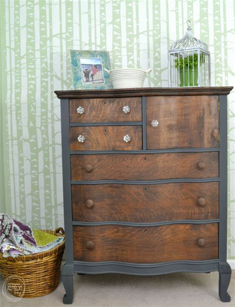 Grey Stained Dresser by Diy Like A Link 5 Erin Spain