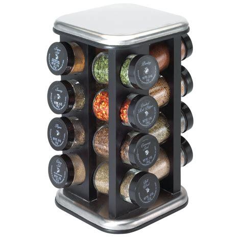 16 Jar Spice Rack by Kamenstein Metro Collection Black Hardwood 16 Jar Spice