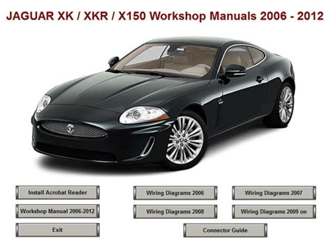 jaguar xk xkr x150 workshop repair manual 2006 2012 download manu