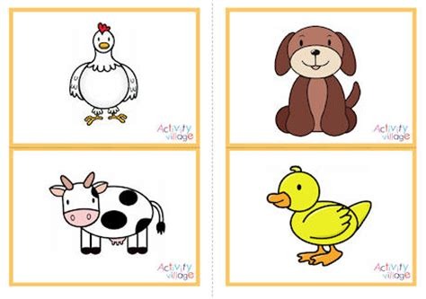 animals flashcards it s fun to learn farm animal picture flashcards
