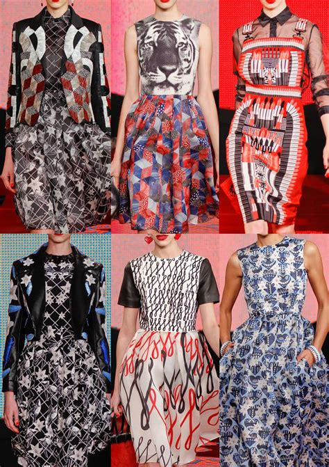 geometric pattern in fashion london fashion week autumn winter 2013 print pattern