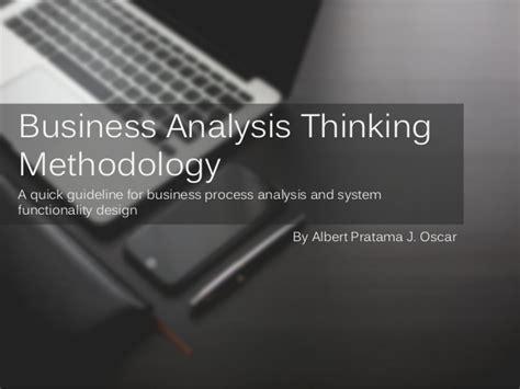 design thinking business analysis business analysis thinking methodology