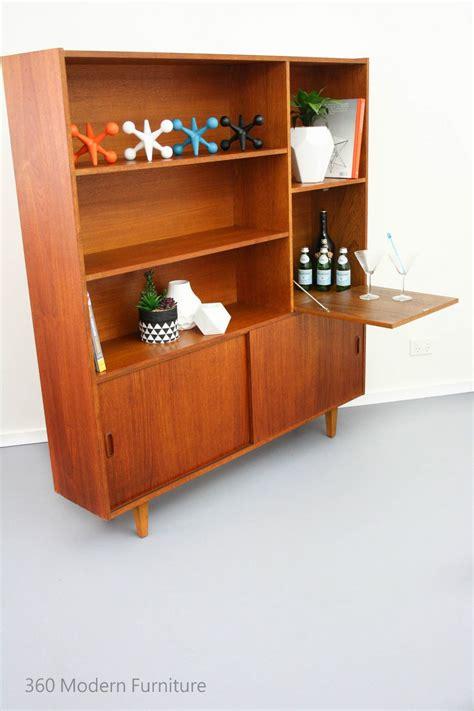 mid century sideboard room divider bar shelves cabinet