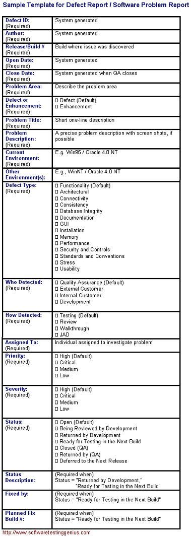 building defect report template defect report template doc calendar doc