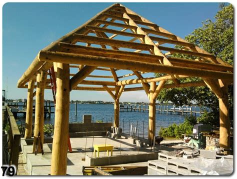 tiki hut roof construction custom thatch framing and repair ta bay area florida
