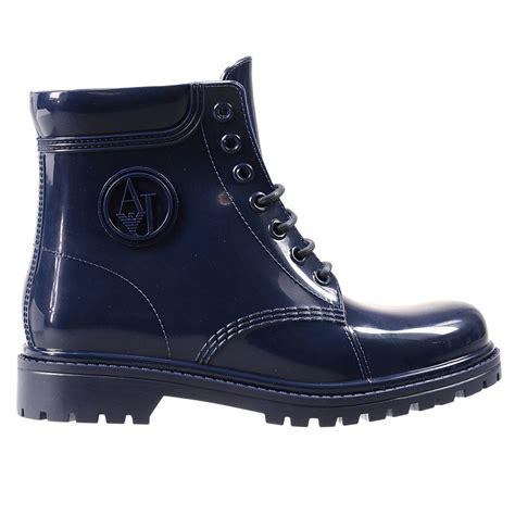 armani boots giorgio armani boots in blue