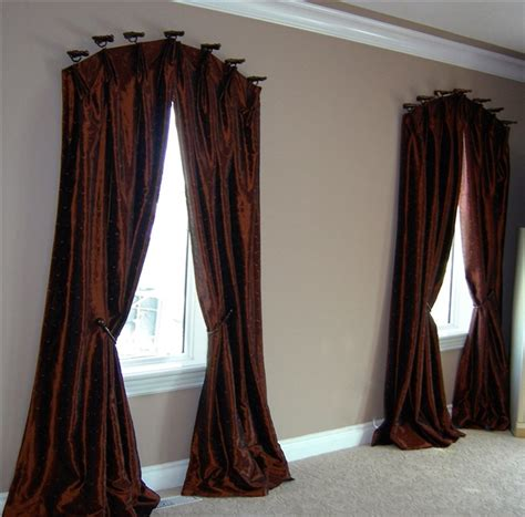 how to hang curtains on arched window best selections of curtains for arched windows homesfeed