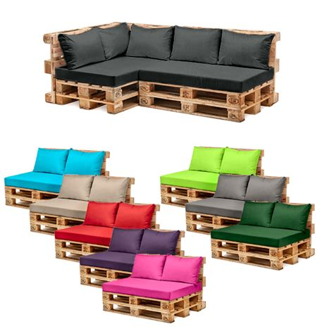 Cushions For Pallet Patio Furniture Pallet Garden Furniture Cushions Sets Water Resistant Covers Seat Wooden Sofa Ebay