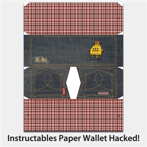 Paper Wallet Template by Instructables Paper Wallet Hacked 2 Ways And New Design 4