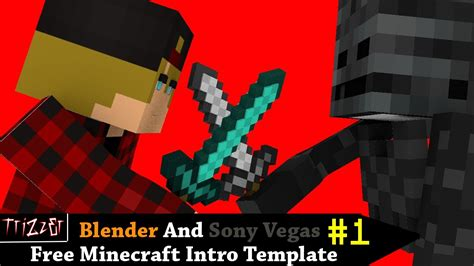 free 3d minecraft intro template blender sony vegas 1