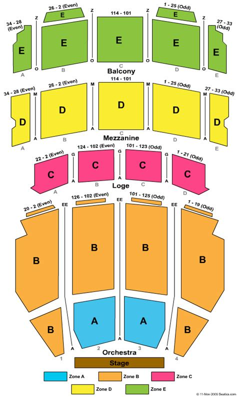 ohio theater seating chart ohio theatre seating chart ohio theatre columbus ohio