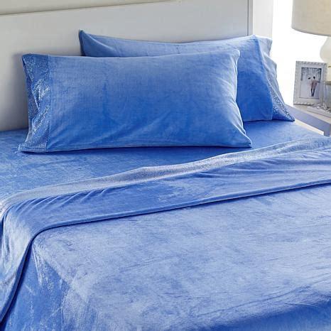 velvet soft cozy sheet sets full size soft cozy glitter hem plush sheet set 8452566 hsn