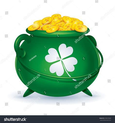 Stock Pot Golden st patricks day symbol pot gold stock vector 250419028