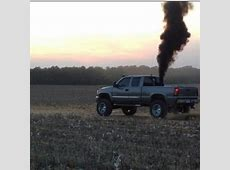 rolling coal on Tumblr Lifted Duramax Diesel Blowing Smoke