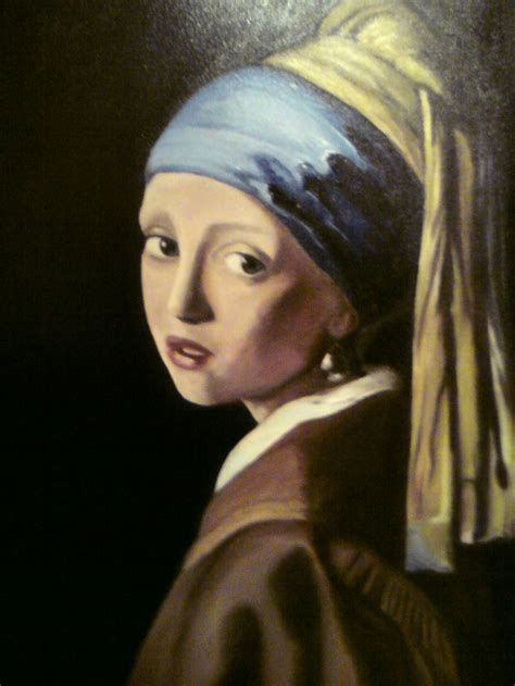 comprar cuadro la joven de la perla cuadros la joven de la perla del pintor vermeer maria teresa rodriguez morcillo artelista com