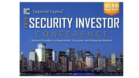 imperial capital imperial capital s security investor conference blub 216 x