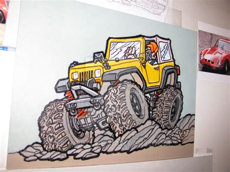 acrylic painting of jeep jeep wrangler acrylic painting by r0tti on deviantart