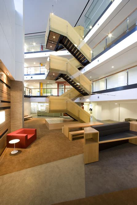 Lobby Stairs Design Atrium Switchback Stair Stairs Modern Stairs Interiors And Design Awards