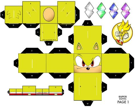 Papercraft Sonic - sonic cubee page 1 by mikeyplater on deviantart