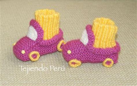 batitas en crochet y dos agujas para bebes 180 00 en mercadolibre paso a paso c 243 mo tejer botitas con dise 241 o de auto en dos