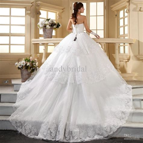 extraordinary wedding dress with long train wedding