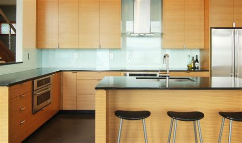 modern oak cabinets johnson pt modern contemporary kitchen seattle by