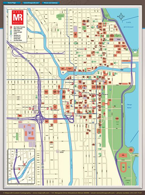 chicago loop map mapcraft custom cartography chicago loop