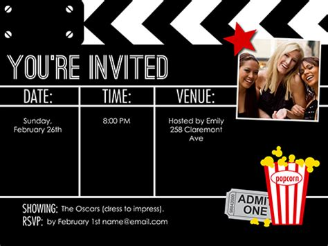 movie night invite smilebox