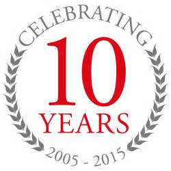 business anniversary logos hwbc celebrates 10 years in business predicting record 2015