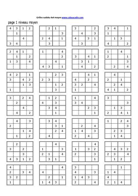 Grille De Sudoku Facile à Imprimer by Http Www Caboucadin Jeux A Imprimer Albums Jeux De
