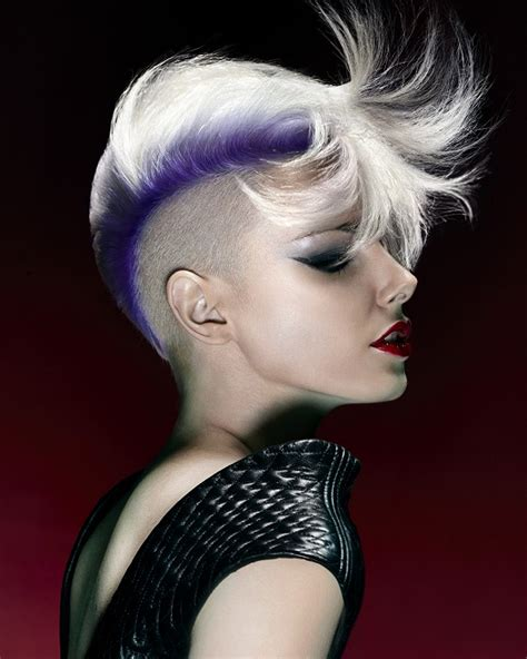 show me rockstar hair cuts a short white hairstyle from the fusion collection