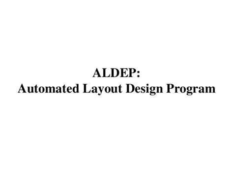 automated layout design program download layout