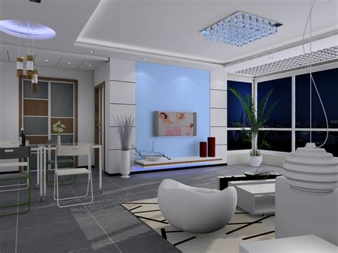 3d living room bright and spacious modern living room 3d models 3d model