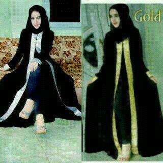 Gamis Abaya Muslim Dress Wanita Saudi Black Series gamis arab cardi bajuindia bajuindia