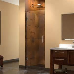 30 Shower Door Dreamline Unidoor 30 In X 72 In Frameless Hinged Shower Door In Brushed Nickel Shdr 20307210f