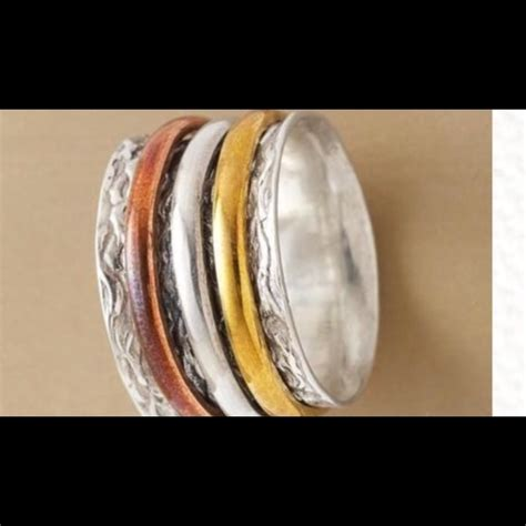 44 sundance jewelry sundance spinner ring tricolor