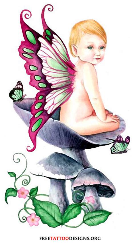 baby fairy tattoo designs baby tattoos evil small