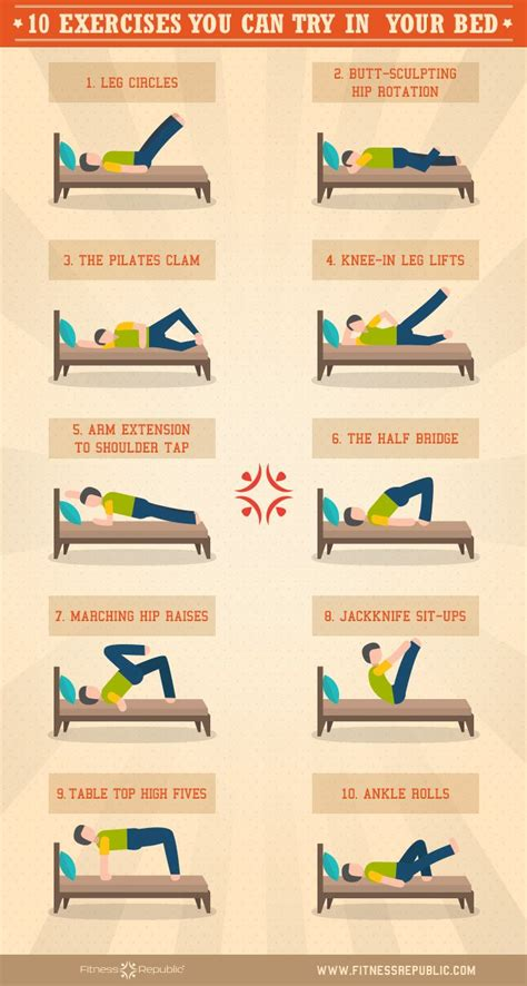 should you workout before bed 10 exercises you can do in bed exercises workout and yoga