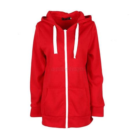 Jaket Zipper Hoddie Sweater News plain hoodie hooded zip zipper tops sweatshirt jacket coat jumper pullover