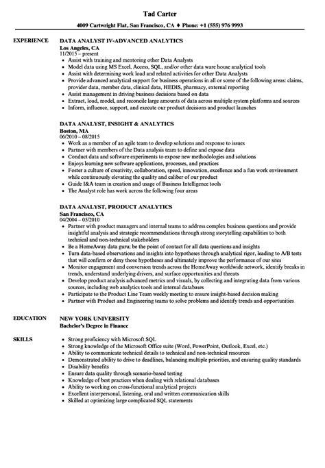 data analytics resume data analyst cv madratco data