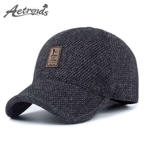 aetrends woolen knitted design winter baseball cap