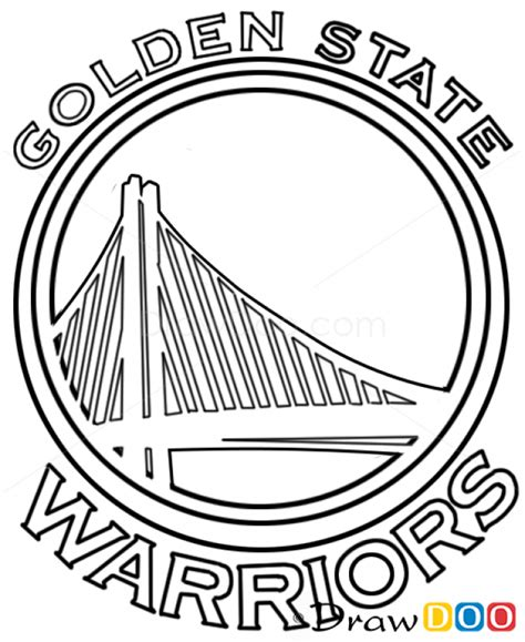 coloring pages basketball logos how to draw golden state warriors basketball logos