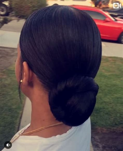 slick back weave hairstyles slicked back low ponytail www imgkid com the image kid