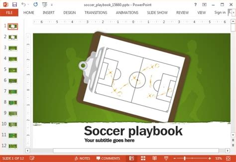 Animated Soccer Playbook Powerpoint Templates Powerpoint Football Playbook