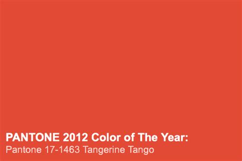 Pantone Color Of The Year 2012 | color of the year 2012 pantone tangerine tango my