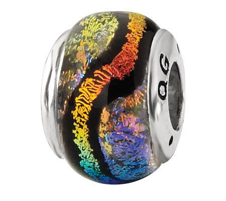 prerogatives sterling rainbow and black dichroic glass