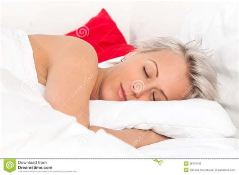 woman sleeping in bed beautiful young woman sleeping in bed stock photo image