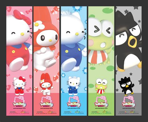 printable bookmarks hello kitty 6 best images of hello kitty printable bookmarks hello